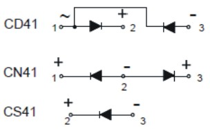 connection diagrams CD41 - CN41 - CS41